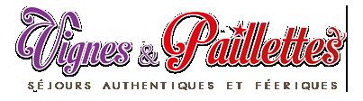 Vignes et Paillettes |Séjours authentiques et féeriques ! | séjour, weekend, vacance, cabaret, bourgogne, alsace, spectacle Logo